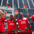 Kenyan players wave to the crowds during the rugby sevens parade in Wellington. Photo / Mark Mitchell