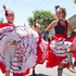 Spanish dancers in action during the rugby sevens parade in Wellington. Photo / Mark Mitchell