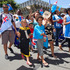 Fijian supporters during the rugby sevens parade in Wellington. Photo / Mark Mitchell