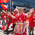 Colourful Tongan supporters during the rugby sevens parade in Wellington. Photo / Mark Mitchell