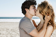 DNA lingers in a partner's mouth for at least an hour after kissing.Photo / Thinkstock