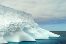 The ice below the Geographic South Pole moves, taking the marker with it. Photo / Thinkstock