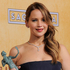 Actress Jennifer Lawrence poses backstage with the award for best female actor in a leading role for Silver Linings Playbook. Photo / AP