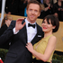 Actor Damien Lewis, left, and wife Helen McCrory arrive on the red carpet. Photo / AP