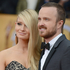 Lauren Parsekian and Aaron Paul arrive on the red carpet. Photo / AP