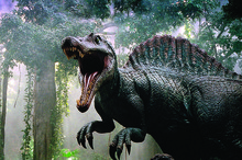 A scene from the 2003 film Jurassic Pa