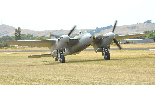 Wings Over Wairarapa Airshow, Hood Aerodrome Masterton, Saturday, Mosquito taxis back after giving its display