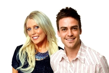 Michael Christian, right, has returned to the airwaves. Mel Greig is still off air. Photo / Supplied