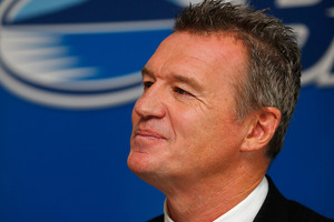 Blues coach John Kirwan said he received reports this morning that the Toowoomba area in Southern Queensland where the game is scheduled is ok. Photo / Getty Images.