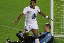 Waitakere United striker Roy Krishna. Photo / Getty Images.