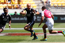 New Zealand's D J Forbes in action at the Sevens. Photo / Mark Mitchell