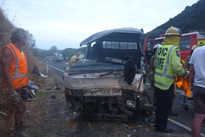 The scene of the crash on SH 35 in Te Kaha. Photo / Supplied