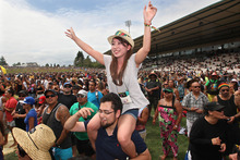The weather was great and the music went on and on at Raggamuffin in Rotorua yesterday.  Photo / Rotorua Daily Post