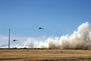 Fire officials say it's stupid to resume firing at West Melton with the fire risk still high. Photo / APN