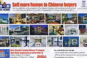 Homeowners are urged to target Chinese buyers in the North Shore edition of  Property Press . Photo / Supplied