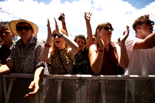 The high temperature at the Laneway Festival was a major reason for the early closure of one of the main bars on the site. Photo / Dean Purcell.