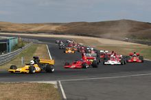 F5000 cars race during the Denny Hulme festival at Hampton Downs. 