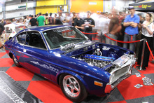 Pulse Performance Race Engineering's '6B' six-rotor Mazda RX-4 pulls a crowd at the 4 & Rotary Nationals at the ASB Stadium in Auckland ove