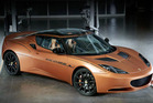 The Lotus Evora 414E extended-range plug-in sports car.