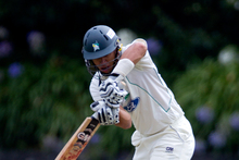 Ross Taylor of the Stags batting during the Plunket Shield match today. Photo / Sarah Ivey