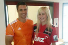 Siobhan Patterson wanted 'Izzy' Dagg but settled for Dan Carter. Photo / Supplied