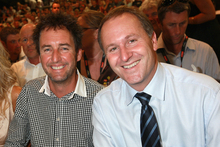 Mike Hosking (left) was the master of ceremonies at John Key's State of the Nation speech. File photo / Norrie Montgomery