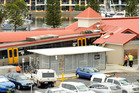 The train all but demolished the toilet block at Cleveland Station. Photo / Courier Mail
