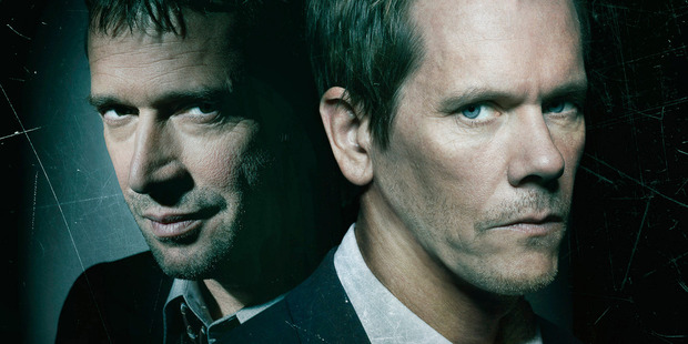 James Purefoy and Kevin Bacon star in One's new TV show The Following. Photo / Supplied