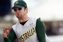 Adam Folkard has helped spearhead the Australian softball team's remarkable change in fortunes. Photo / Getty Images 