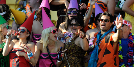 Dressing up has been encouraged by the organisers of the Wellington Sevens - but what about the game?  Photo / Getty Images
