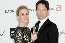 Anna Paquin with husband Steven Moyer. Photo / AP