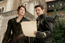 Gemma Arterton as Gretel, left, and Jeremy Renner as Hansel in a scene from Hansel and Gretel: Witch Hunters. Photo / Supplied