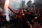 Al Ahly fans backed the sentences.  Photo / AP