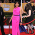 LOVE: Freida Pinto in Roland Mouret.Photo / AP