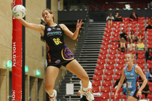 The Magic's Arahi Wall in a game against the Southern Steel at the pre-season tournament last year. Photo / APN