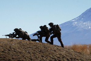 New Zealand Army troops on a training range at the Waiouru Army Base. File photo / Alan Gibson