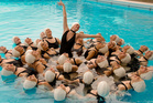 Synchronised swimming group the Wet Hot Beauties, performing in the 2011 Auckland Fringe Festival. Photo / Supplied