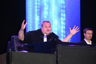 Kim Dotcom at the Mega Launch at Kim Dotcom Mansion on January 20. Photo / Norrie Montgomery