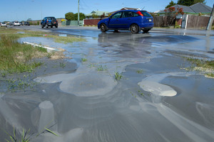 Liquefaction was a major problem for Christchurch residents after the major quakes in the area. File photo / Simon Baker