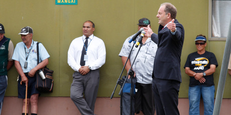 Labour Party leader David Shearer during his speech at the Ratana Marae, Ratana, near Whanganui. Photo / Mark Mitchell