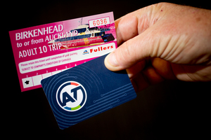 The Birkenhead ferry multi-ride ticket and the new Auckland Transport Hop card. Photo / Greg Bowker