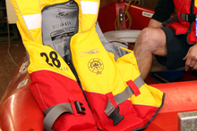 Only one of the two people rescued by the Coastguard was wearing a life jacket. File photo / APN