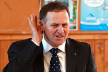 One of the targets of the anger - John Key - was absent. Photo / Glenn Taylor