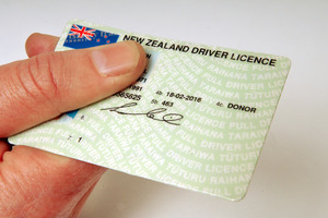 New Zealand drivers licence.  Photo / NZPA