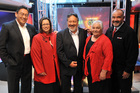 The five Maori Party MPs in the new Parliament in 2008 - Hone Harawira (left) Rahui Katene, Pita Sharples, Tariana Turia and Te Ururoa Flavell - before Harawira split to form his Mana party. Photo / NZPA