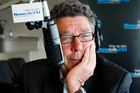 Paul Holmes made his last breakfast show appearance on Newstalk ZB at Sails Restaurant in Auckland on December 19, 2008. Photo / NZPA