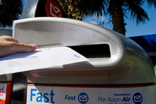 NZ Post may soon only be delivering letters three times a week to NZ letterboxes. File photo / NZ Herald