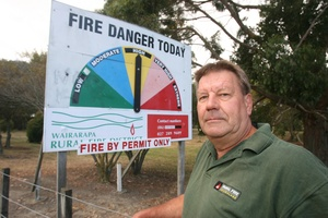 Wairarapa principal rural fire officer Phill Wishnowsky. Photo /Wairarapa Times-Age