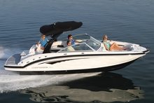 The Chaparral 244 Sunesta's innovative design makes maximum use of all available space ... and the boat can be converted into a fishing platform. Photo / Supplied
