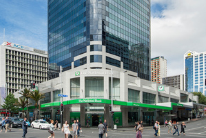 The tower at 205 Queen St has been refurbished and gives a rare opportunity to lease space in downtown Auckland. Photo / Supplied